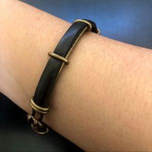 ♦️Artisan Brass Leather Bangle